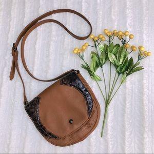 NWOT VINCE CAMUTO Crossbody Saddle Bag w/Dust Bag